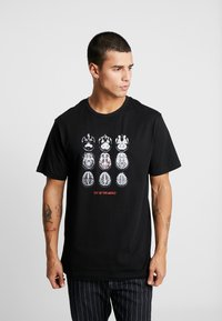 Cayler & Sons - SCAN TEE - Camiseta estampada - black/white - 0
