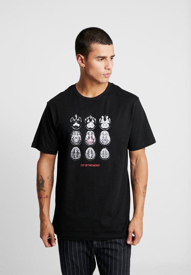 SCAN TEE - T-shirt med print - black/white