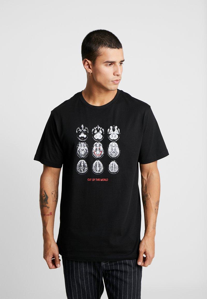 Cayler & Sons - SCAN TEE - Camiseta estampada - black/white