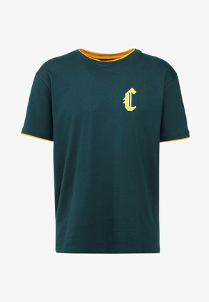 BLACKLETTER SEMI BOX TEE - T-shirts med print - green/yellow