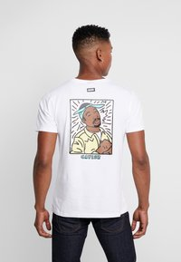 Cayler & Sons - 2PAC LINES TEE - T-shirt print - white - 2