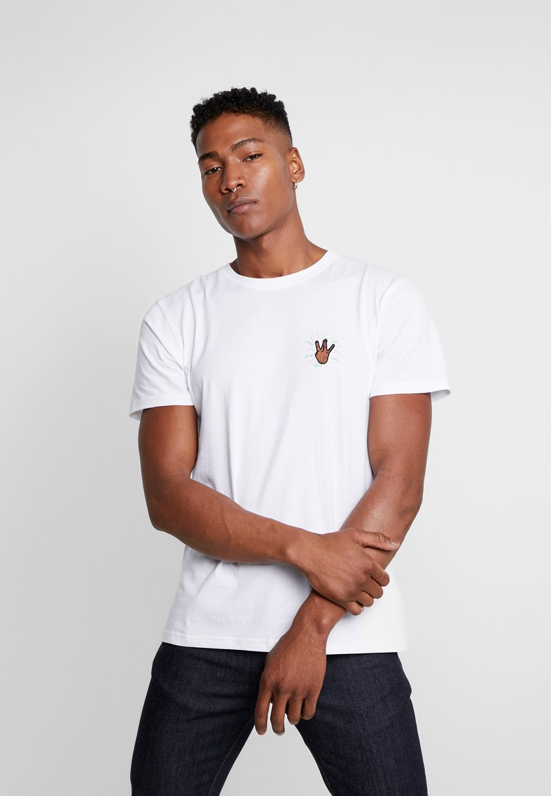 Cayler & Sons - 2PAC LINES TEE - T-shirt print - white
