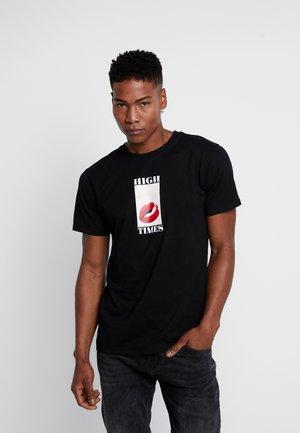 HIGH TIMES TEE - T-shirt z nadrukiem - black