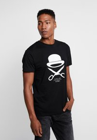 Cayler & Sons - ICON TEE - Camiseta estampada - black/white - 0