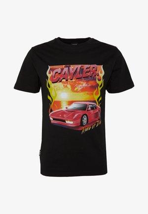 RIDE OR FLY TEE - Print T-shirt - black