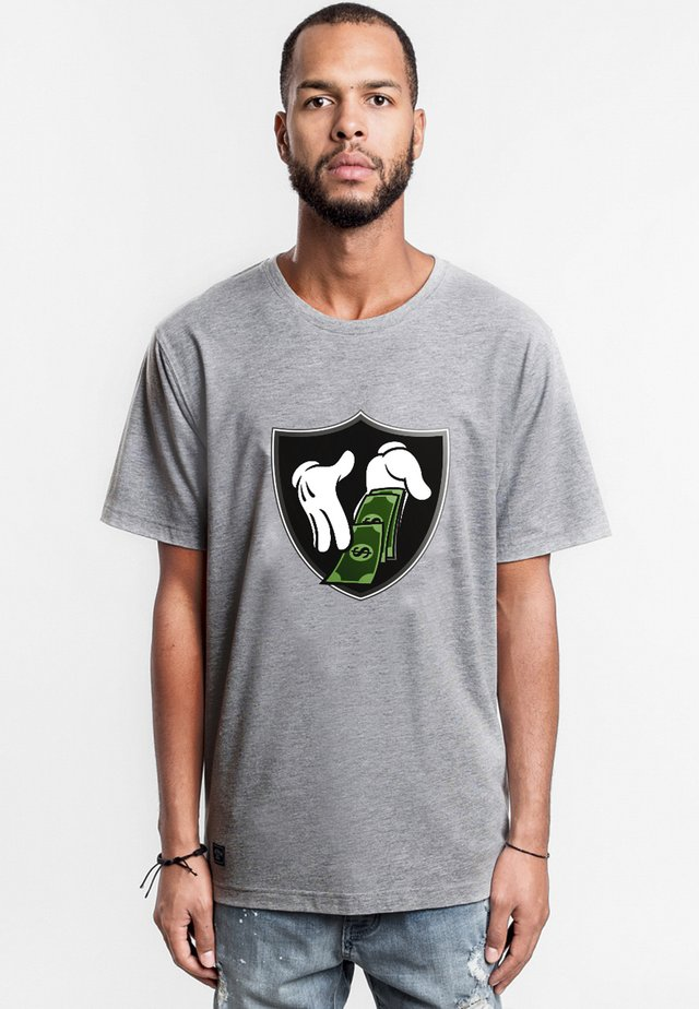 C&S WL MONEY TO BLOW TEE - T-shirt imprimé - heather grey/mc