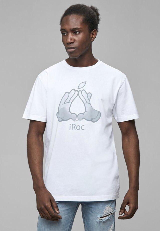 C&S WL COOKIN' TEE - T-shirt imprimé - wht/sil