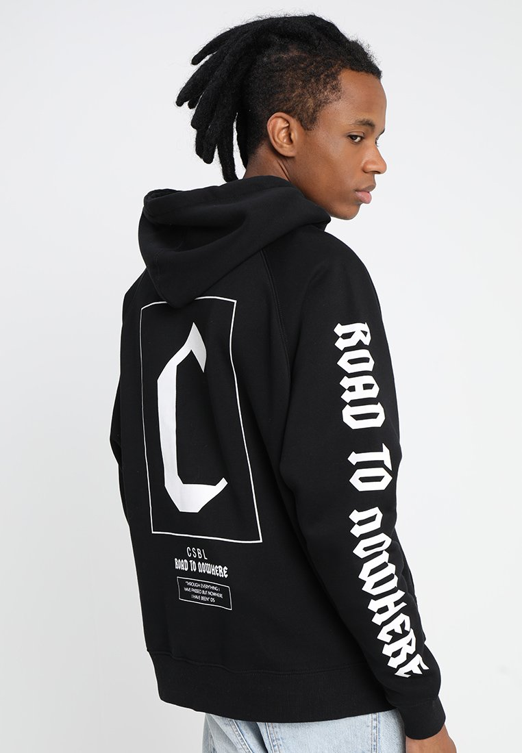 Cayler & Sons - FRAMED BOX RAGLAN HOODY - Luvtröja - black/white