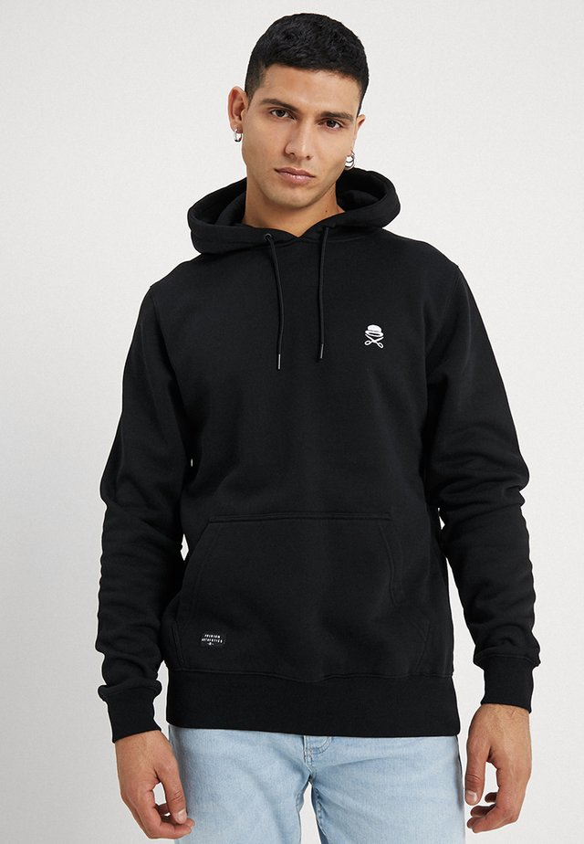 SMALL ICON  - Hoodie - black/white