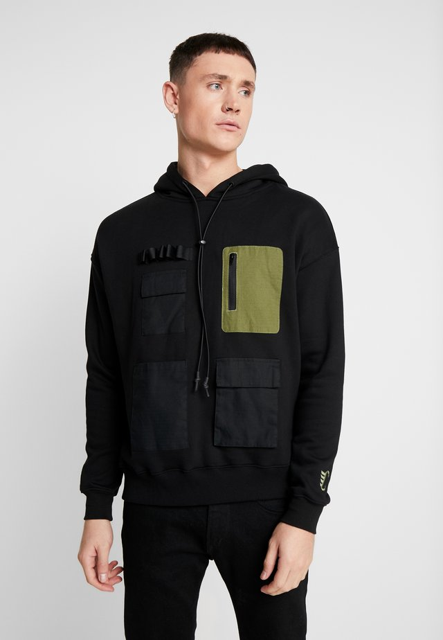 STORAGE SEMI BOX HOODY - Hoodie - black olive