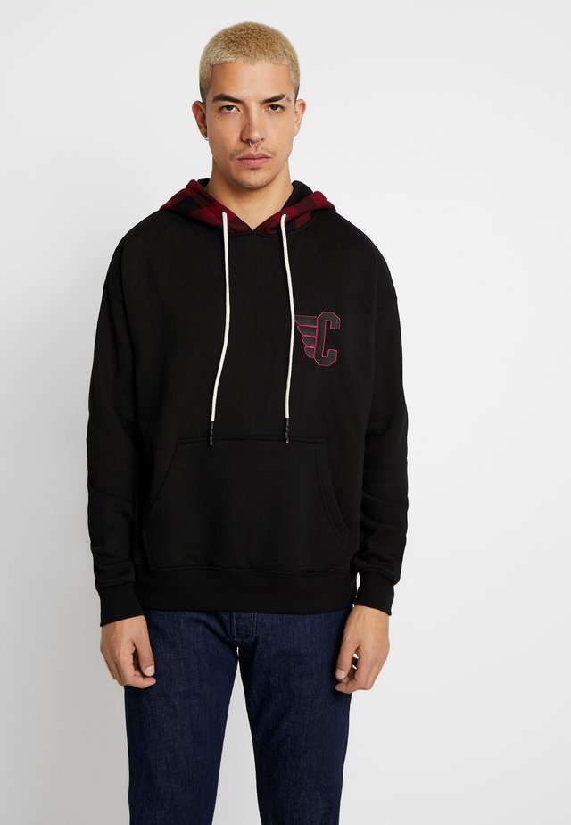 PINION CHECK BOX HOODY - Sweat à capuche - black/check