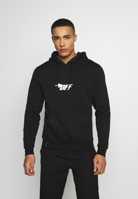 Cayler & Sons - FAST BRACKETS HOODY - Jersey con capucha - black/white - 0