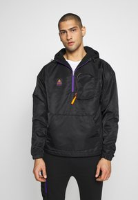 Cayler & Sons - HALF ZIP JACKET - Chaqueta fina - black/orange - 0