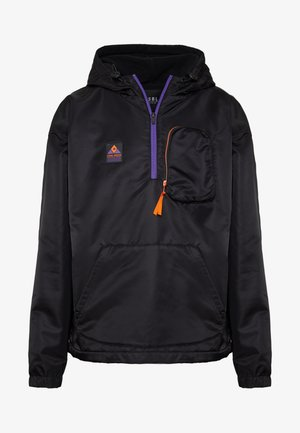 HALF ZIP JACKET - Summer jacket - black/orange