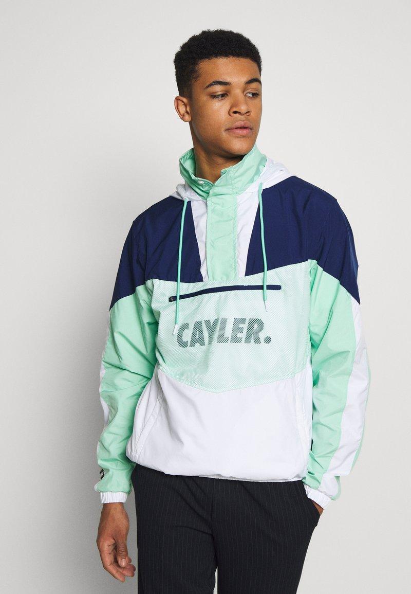 Cayler & Sons - OCEAN VIDA HALF ZIP - Chaqueta fina - mint/navy