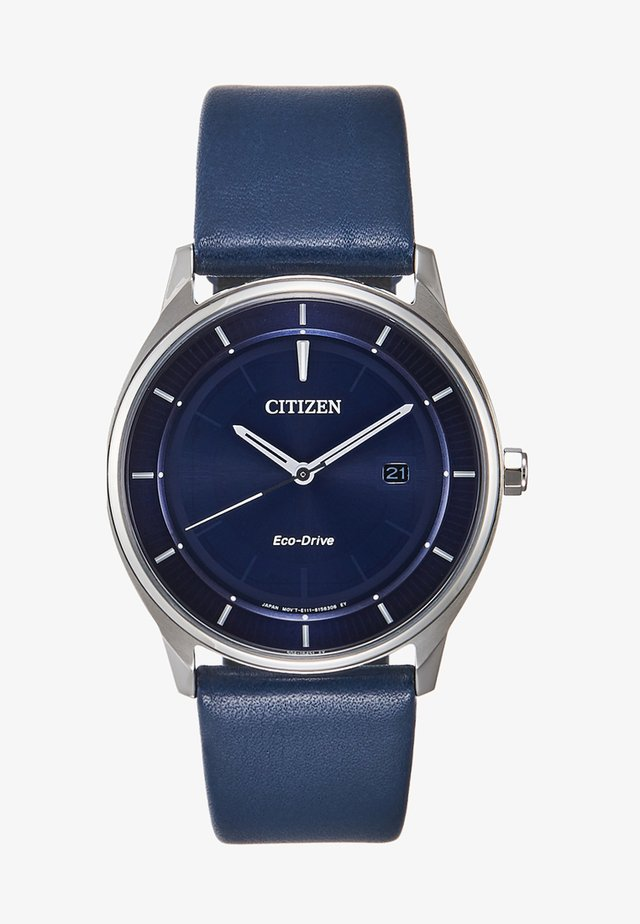 Watch - dark blue /silver-coloured