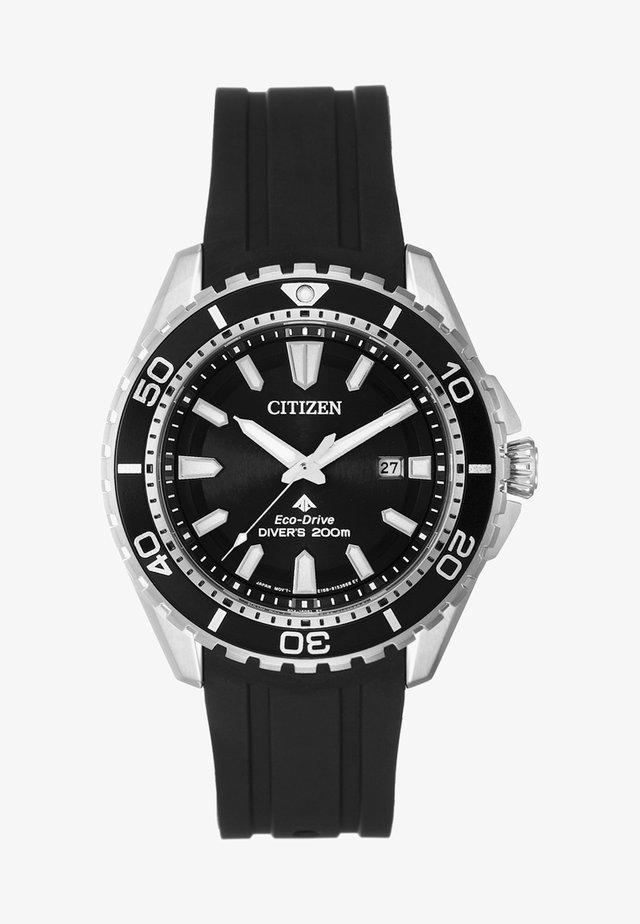 Uhr - schwarz/silber-coloured