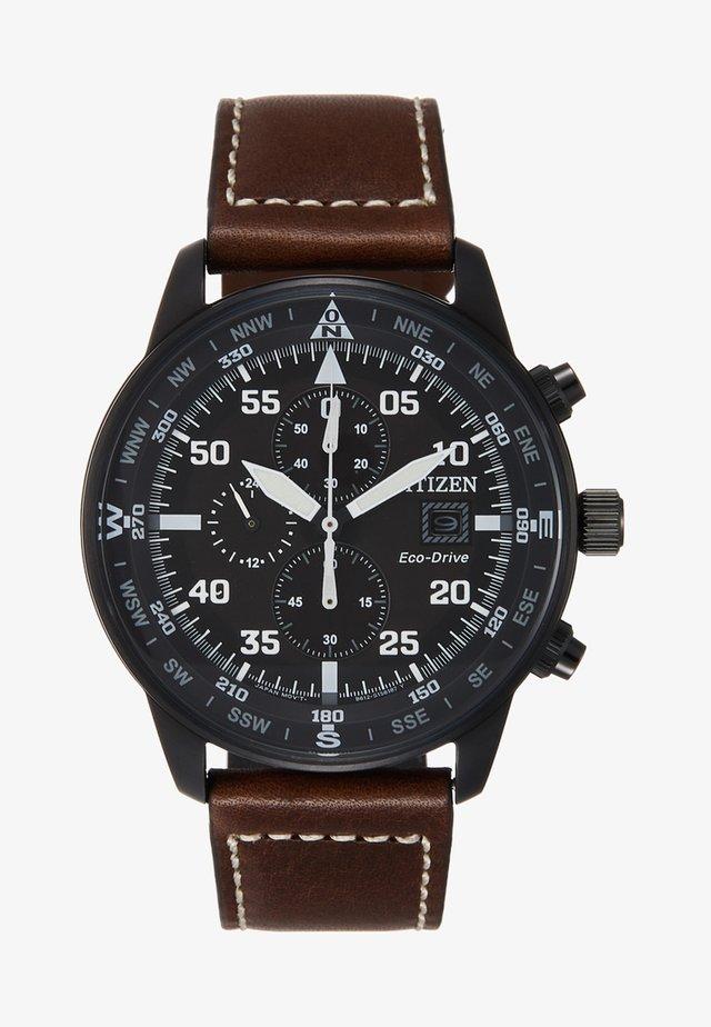 Kronografklokke - dunkelbraun/schwarz