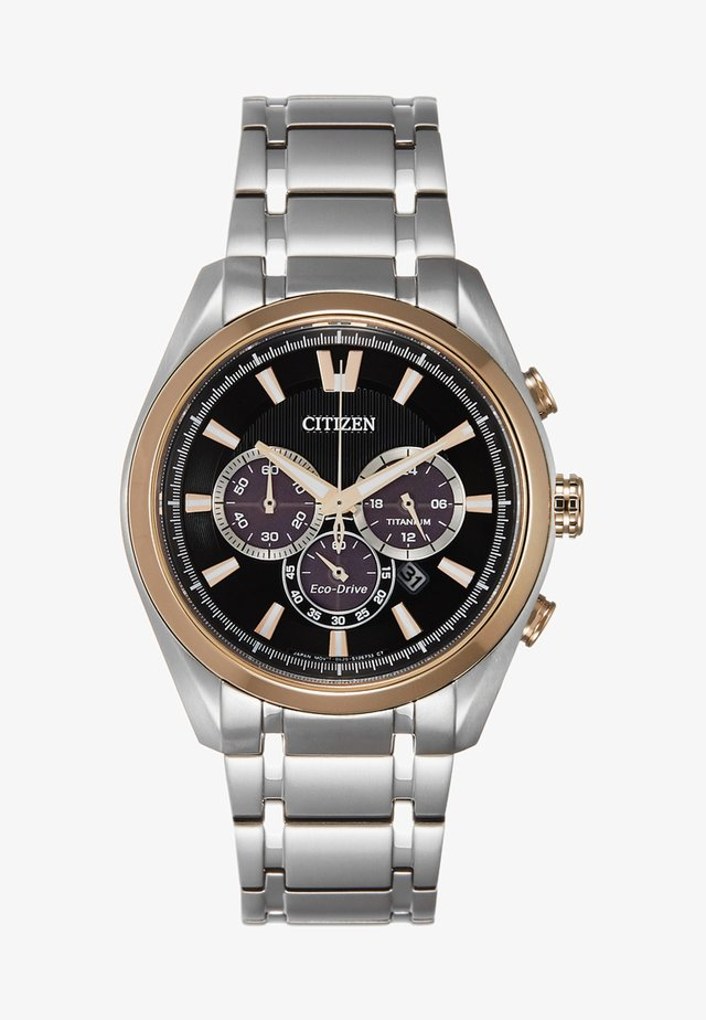 Chronograph watch - silver-coloured/gold-coloured