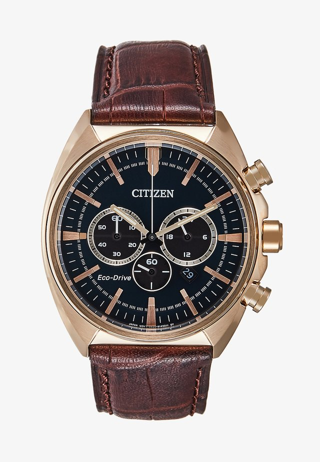Chronograph watch - brown/gold-coloured