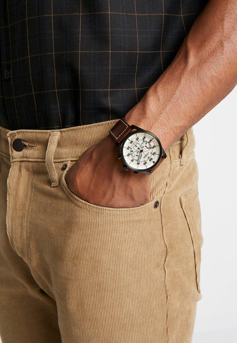 Citizen - ECO DRIVE - Zegarek chronograficzny - brown