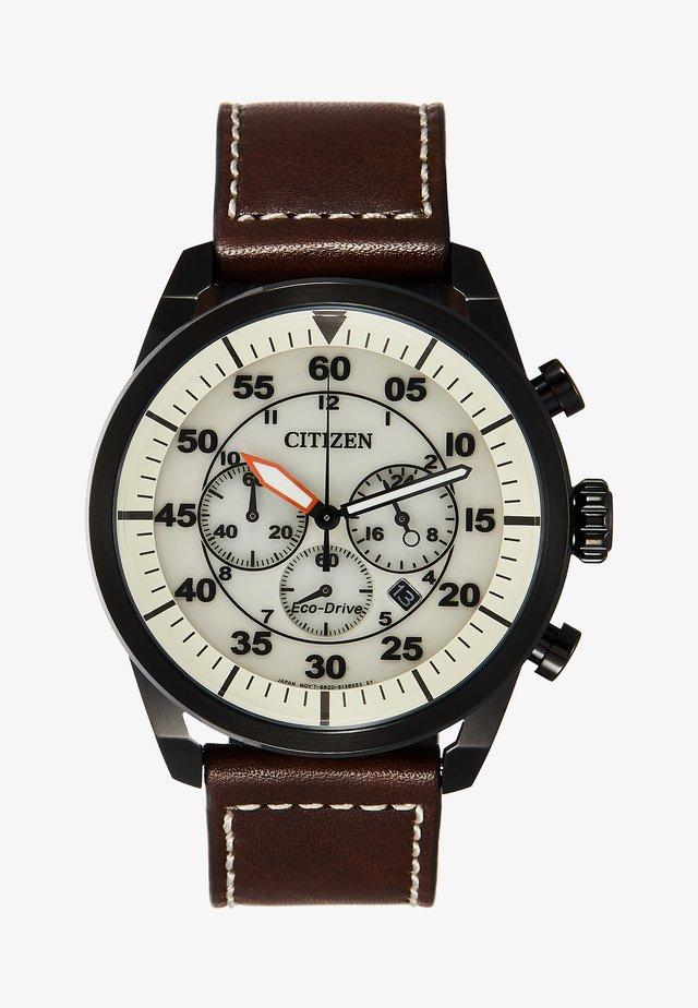 ECO DRIVE - Zegarek chronograficzny - brown