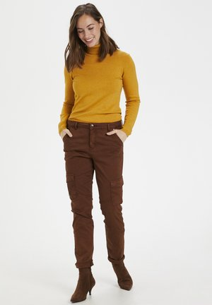 Spodnie materiałowe - friar brown
