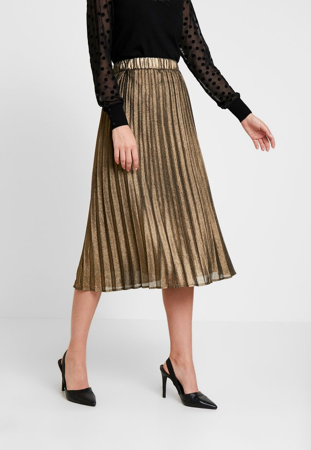 JUSTA SKIRT - Pleated skirt - frosted almond