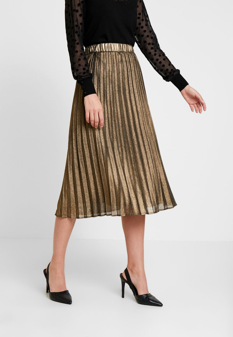 Culture - JUSTA SKIRT - Plisséskjørt - frosted almond