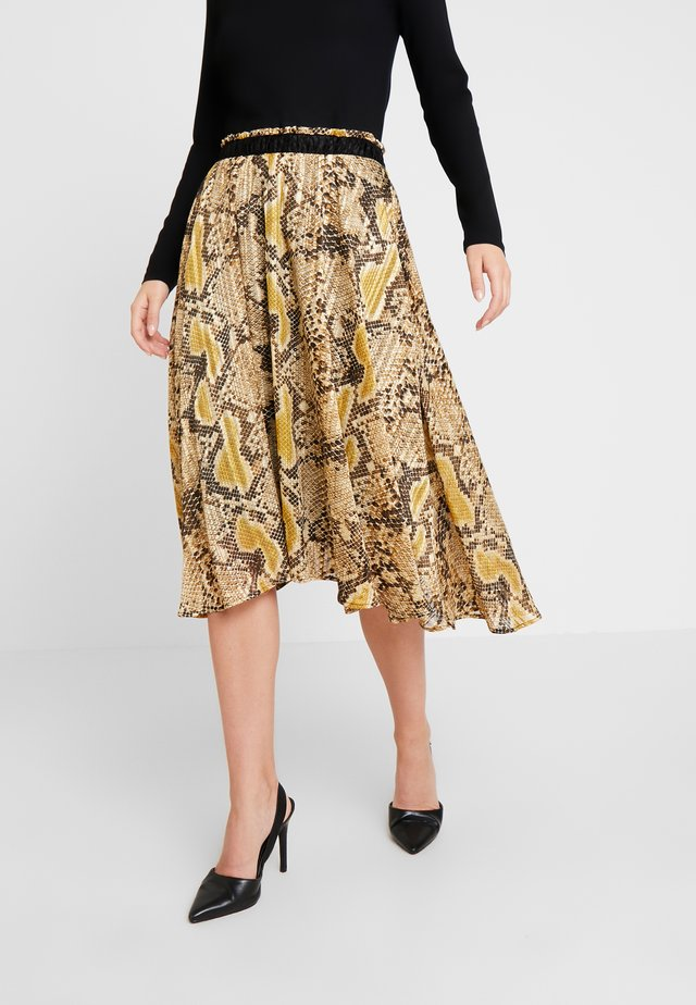 RONJA SKIRT - Pleated skirt - almond