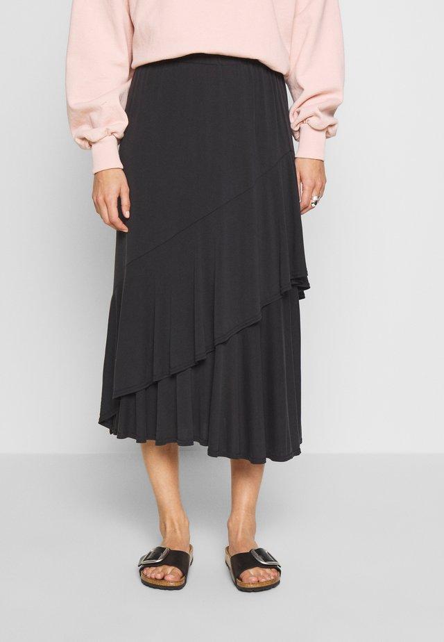 KAJSA SKIRT - A-line skirt - black