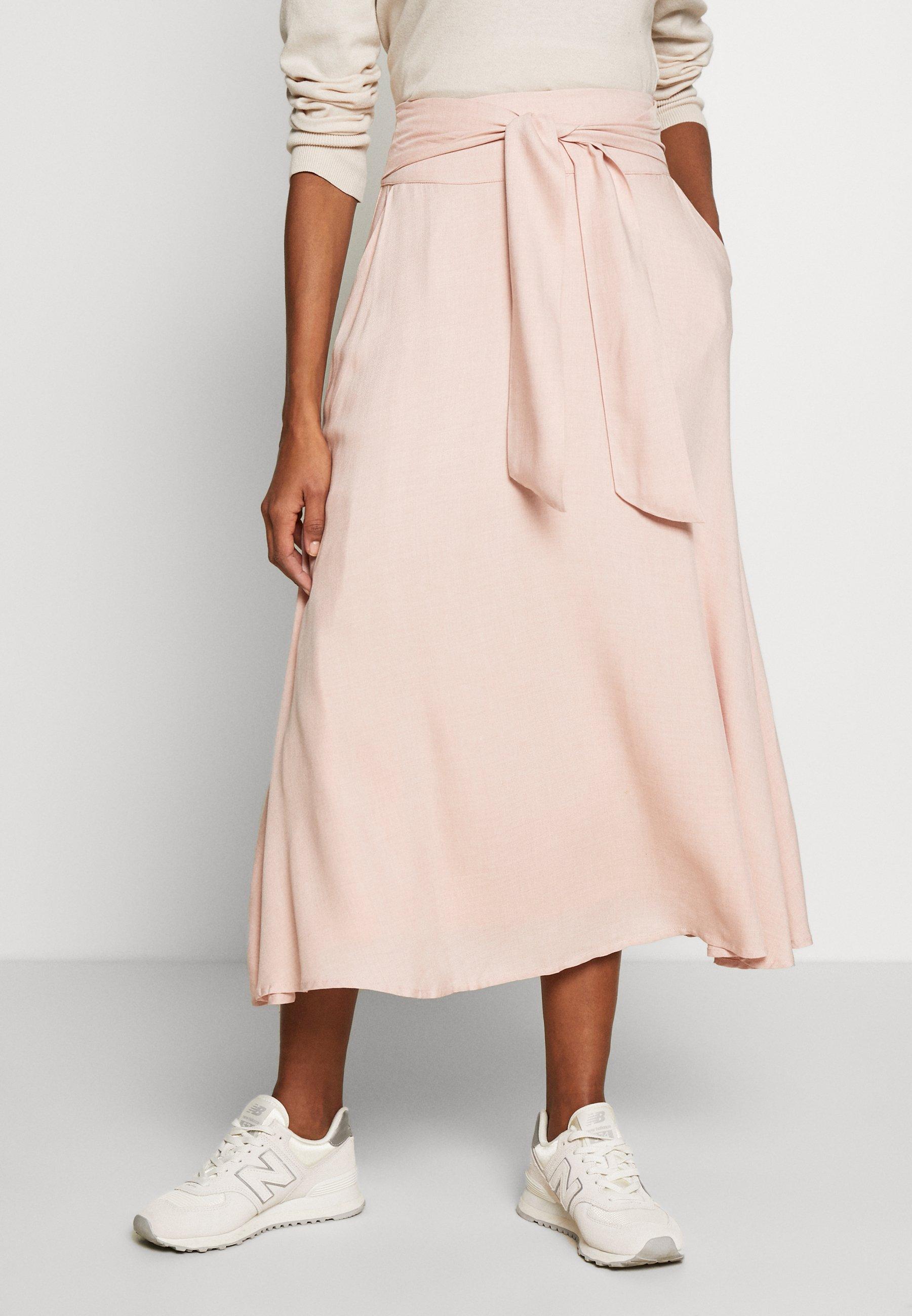 plisowana spódnica alida różowa