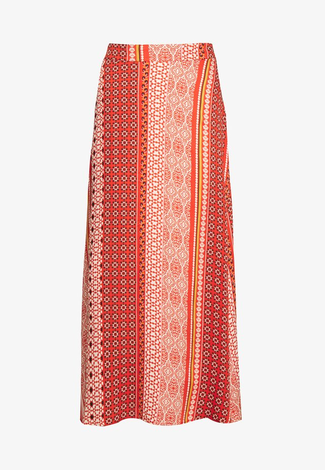 ZALAN SKIRT - Áčková sukně - mecca orange