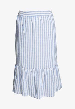 CUNOOR STRIPE SKIRT - A-snit nederdel/ A-formede nederdele - mazarine blue