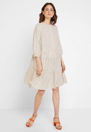NOOR STRIPE DRESS - Shirt dress - sand