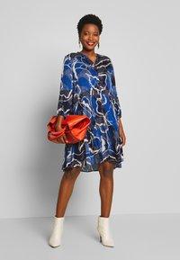 Culture - SHANIA LEAF DRESS - Day dress - blue iris - 1