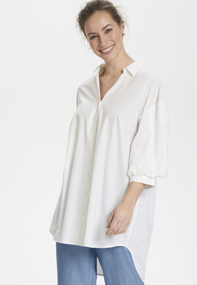 CUOLENA - Button-down blouse - white