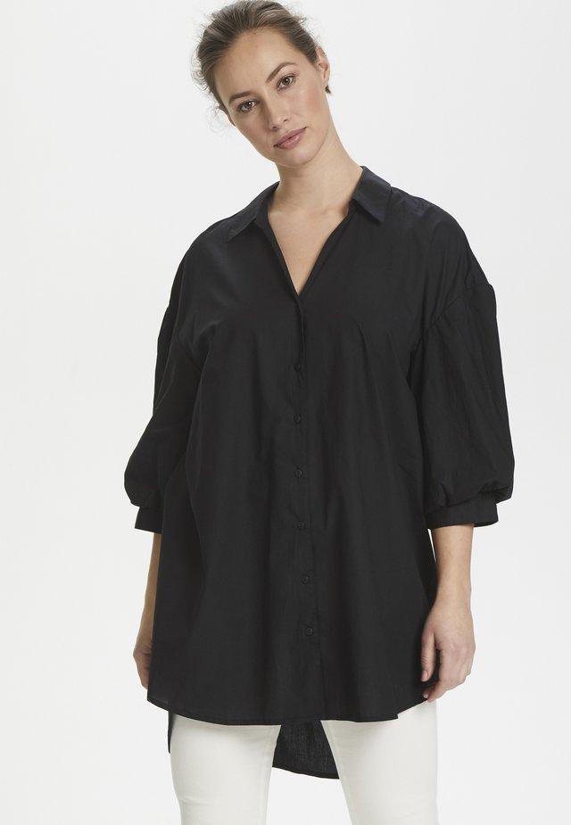 CUOLENA - Button-down blouse - black