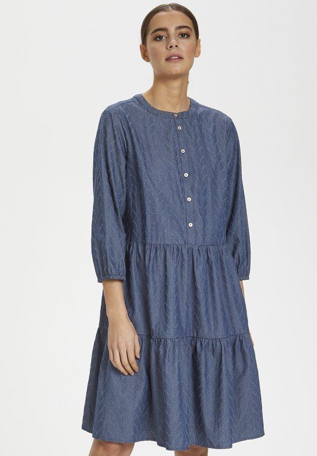 CUARIANE - Korte jurk - dark blue wash