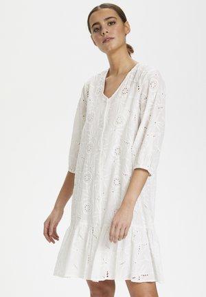 CUSAGA ANGLAISE - Shirt dress - off-white