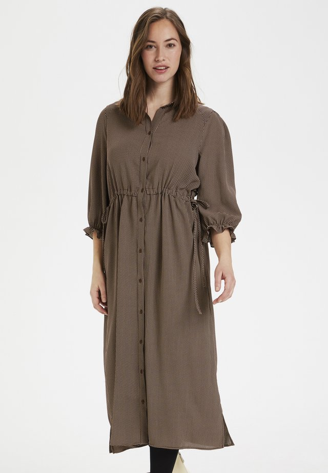 CURAYA - Shirt dress - friar brown check