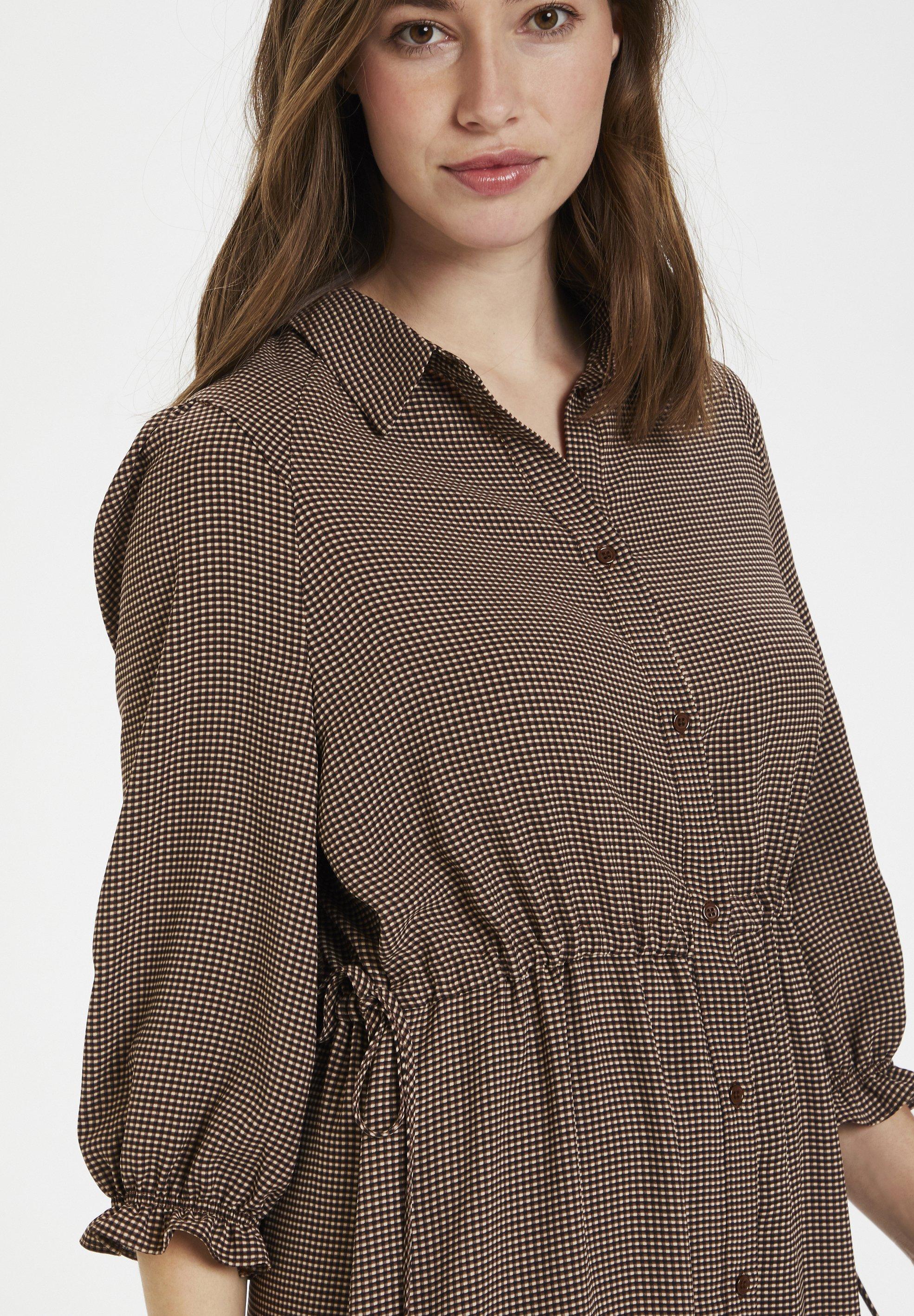 Niesamowita cena Duża obniżka Culture CURAYA - Sukienka koszulowa - friar brown check   Odzież damska 2020 xuedk