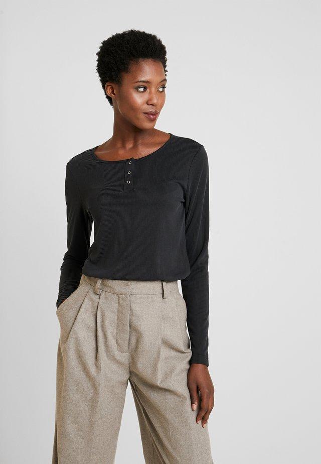 CUKAJSA BUTTON - Long sleeved top - black