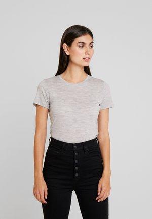 CUNANCIE - Basic T-shirt - grey melange