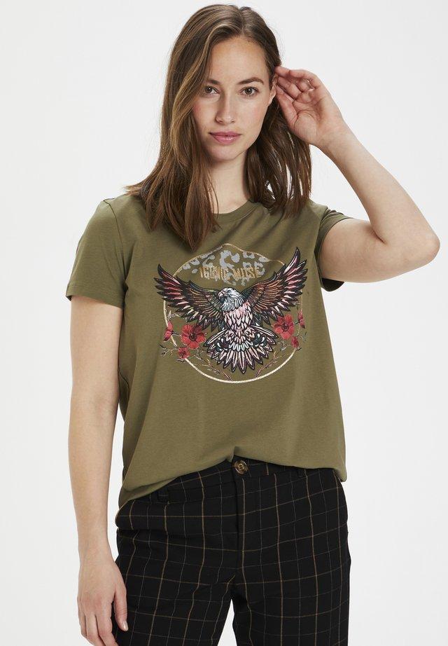 CUBELLA  - T-shirt print - burnt olive