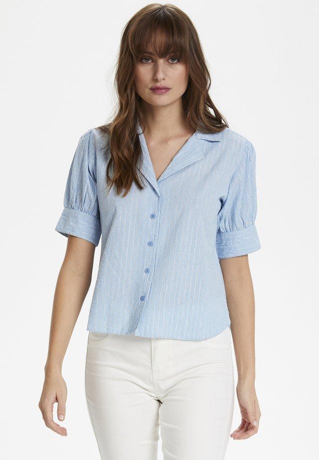 CUNEVA - Button-down blouse - powder blue