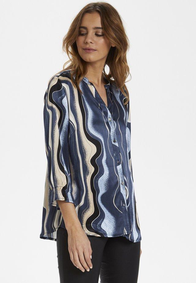 Button-down blouse - blue iris