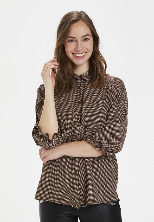 CURAYA  - Button-down blouse - friar brown check