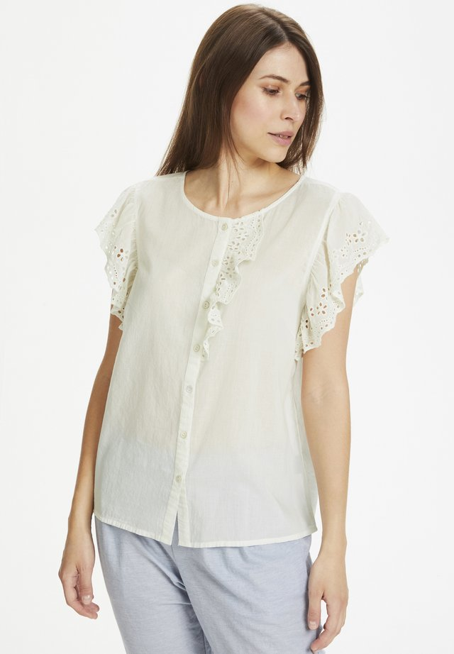 Button-down blouse - spring gardenia