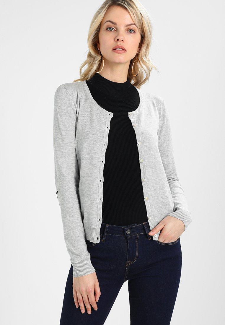 Culture - ANNEMARIE CARDIGAN - Vest - light grey melange